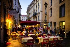 The Quadrilatero restaurant district of Turin.