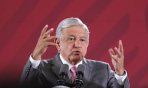 Andrés Manuel López Obrador speaks during a press conference in Mexico City, Mexico Wednesday.