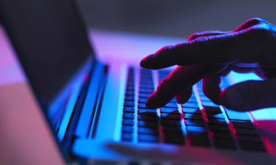hand keyboard laptop
