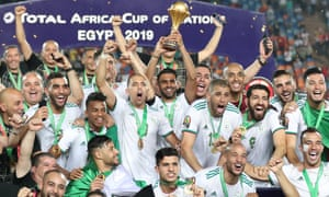 The African Nations Cup was one of five trophies won by Riyad Mahrez during the 2018-2019 season.