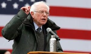 Bernie Sanders speaks in Brooklyn.