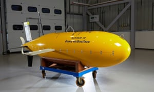 Photo issued by the University of Southampton of the Autosub long range submersible named Boaty McBoatface.