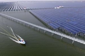China's largest photovoltaic power station Cixi city, Zhejiang province.