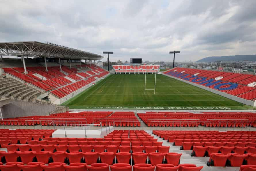 RUGBY-WC-2019-STADIUMSThis picture taken on March 12, 2019 shows the Hanazono Rugby stadium, one of the venues for 2019 Rugby World Cup, in Higashiosaka, Osaka Prefecture. (Photo by Kazuhiro NOGI / AFP) (Photo credit should read KAZUHIRO NOGI/AFP/Getty Images)