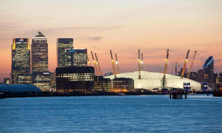 The O2 and Canary Wharf