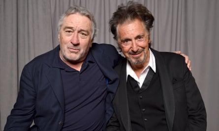 Raw material … Robert DeNiro and Al Pacino in New York in 2017.