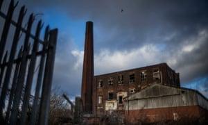 A derelict mill in Rochdale, Lancashire
