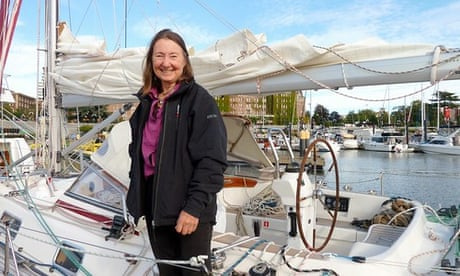 British woman, 77, becomes oldest person to sail around the world alone – video