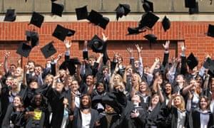 Birmingham students throw hats
