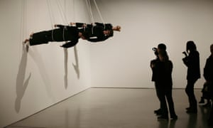 A performance of Trisha Brown's Walking on the Wall at the Barbican in London in 2011.