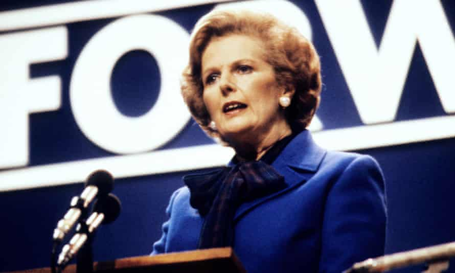 Margaret Thatcher, a 'lady not for turning' at the Conservative party conference, 1980.