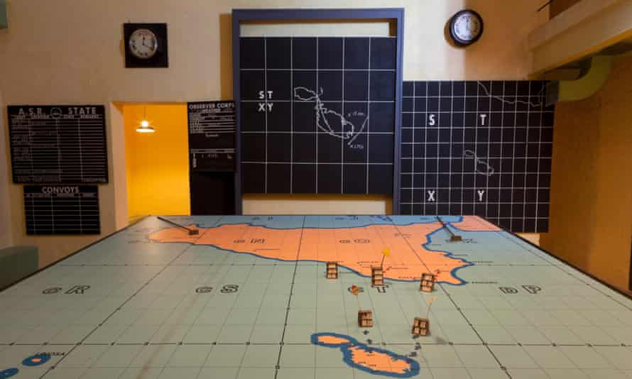 Situation map of Operation Husky in Lascaris War Rooms, Malta.