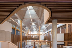 Curved ceilings and walkways inside Marrickville library