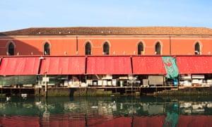 View of fisher market in Chioggia in the Venice lagoon