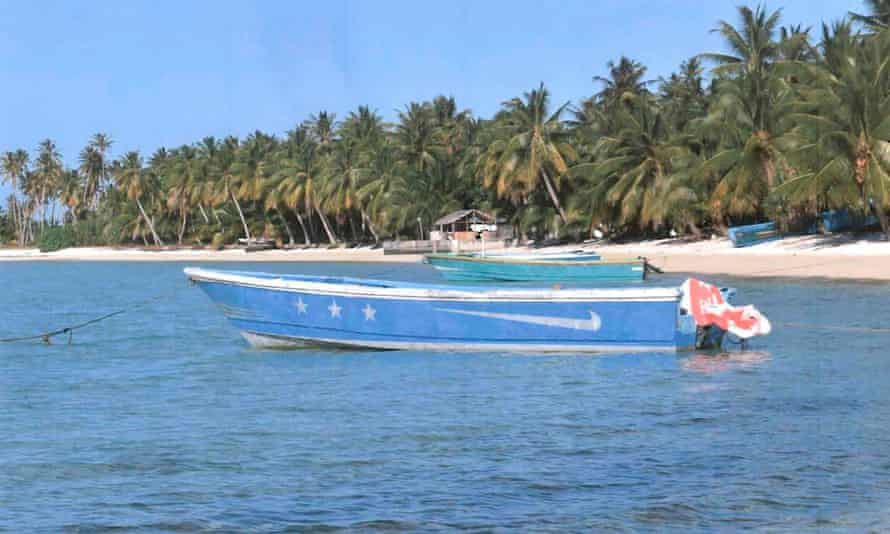 The boat washed up on Ailuk atoll, a remote atoll with about 400 people, in the Marshall Islands last week.