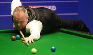 John Higgins recovered from a dismal morning session and scored the tournament's high break, a 143, in the evening.