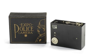 Again, the Expo Police camera from New York (on sale between 1911 and 1924) wasn't disguised but handy for surveillance due to being tiny – about the size of a box of kitchen matches.