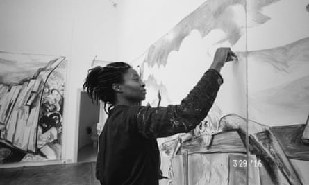 Kara Walker's work has included drawings, prints, projections and large-scale sculptural installations.