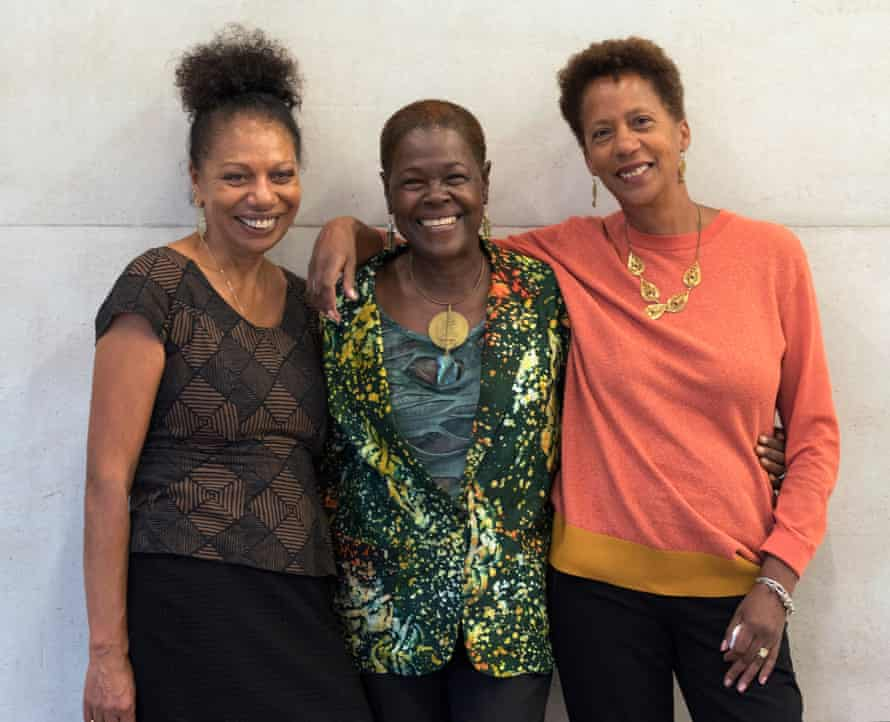Beverley Bryan (centre) with her co-authors of The Heart of the Race, Stella Dadzie (left) and Suzanne Scafe.