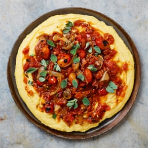 Yotam Ottolenghi's Cheesy polenta and tomato sauce