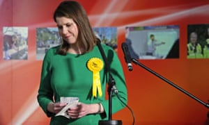 Jo Swinson reacts as she loses her East Dumbartonshire seat.