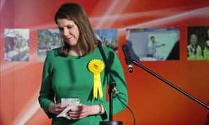 Lib Dem leader Jo Swinson reacts as she loses her East Dunbartonshire constituency on general election night.