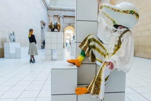 Wonderfully perverse … a gourd-headed dancer in The Squash, Anthea Hamilton's immersive installation for Tate Britain's Duveen Galleries.