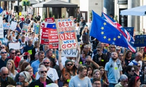 Anti-Brexit People's Vote March in LondonLONDON, UNITED KINGDOM - OCTOBER 20: Hundreds of thousands of pro-EU supporters take part in the People's Vote march through central London followed by a rally in Parliament Square to demand a final say on the Brexit deal. October 20, 2018 in London, England.PHOTOGRAPH BY Wiktor Szymanowicz / Barcroft Images