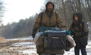 Viggo Mortensen, left, and Kodi Smit-McPhee in the 2009 film adaptation of Cormac McCarthy's The Road.