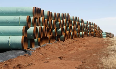 The records, obtained by the watchdog group the Energy Policy Institute and provided to the Guardian, show that three North Dakota state legislators and a Williams county commissioner signed and mailed letters to Ferc and the US army corps of engineers.