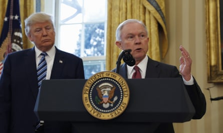 Donald Trump and attorney general Jeff Sessions.