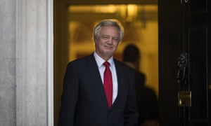 David Davis leaves Downing Street after being appointed Brexit secretary
