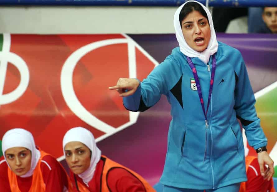 Shahrzad Mozafar, coach of Iran's national women's futsal team