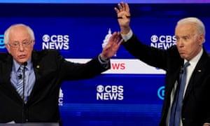 Bernie Sanders and Joe Biden go head to head.