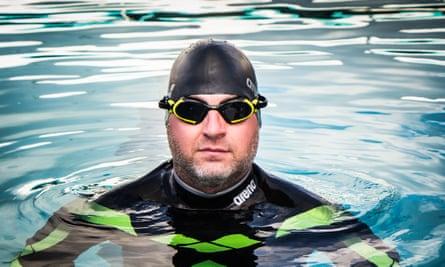 Ben Hooper in his wetsuit