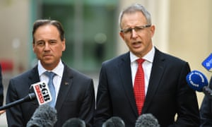 The health minister, Greg Hunt, and the social services minister, Paul Fletcher