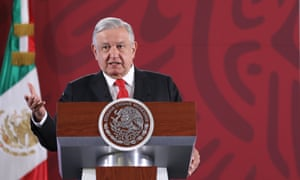 Andrés Manuel López Obrador at a press conference in Mexico City, Mexico on 27 December 2019.
