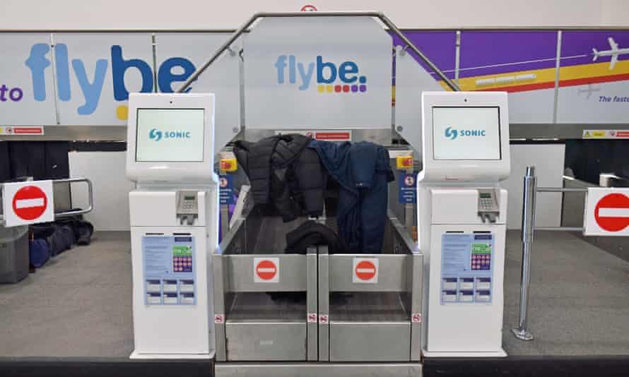 Flybe check-in desks at Birmingham International Airport