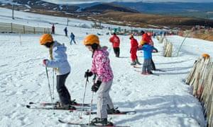 A ski lesson in Aviemore