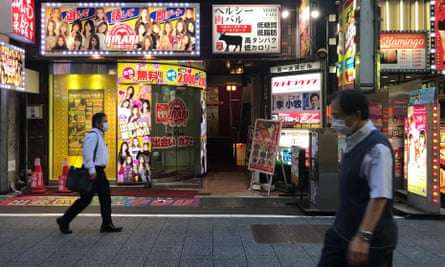 A 'dating cafe' in the Kabukicho district of Tokyo this month.