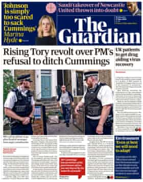 Guardian front page, Wednesday 27 May 2020