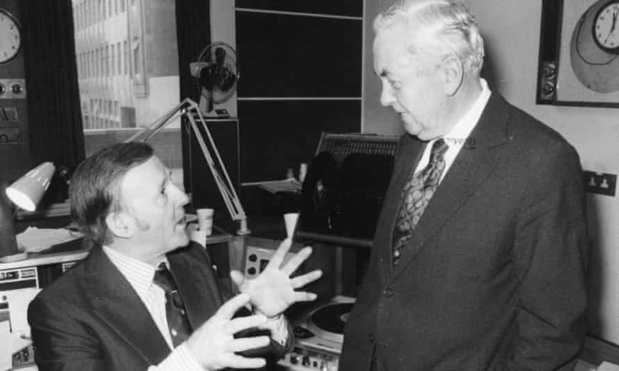 Jimmy Young talking to the Labour prime minister Harold Wilson in 1976.