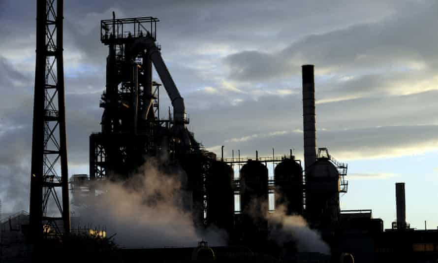 The Port Talbot steelworks in south Wales
