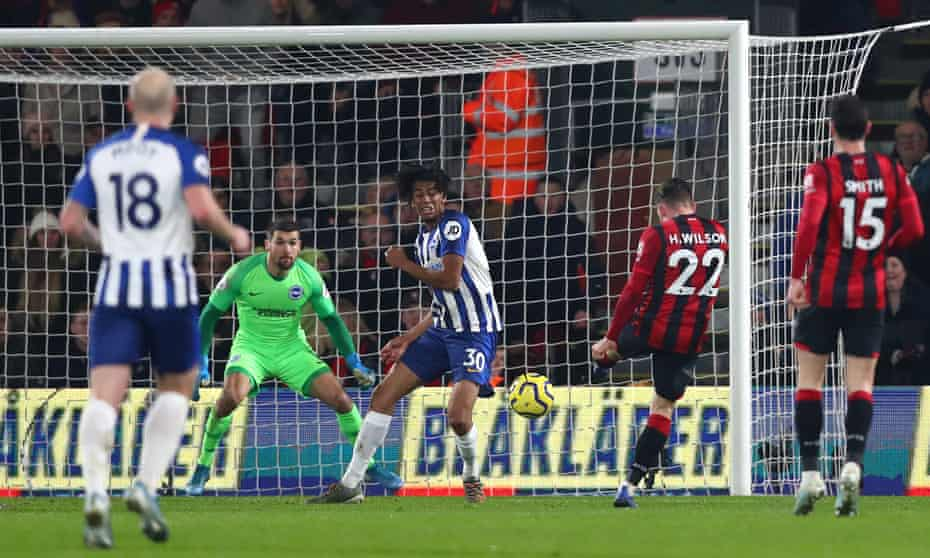 Harry Wilson powers in the opening goal for Bournemouth.