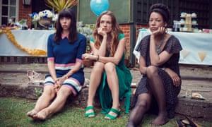 Eileen Walsh, Kerry Condon andNina Sosanya in TV drama Women On The Verge.