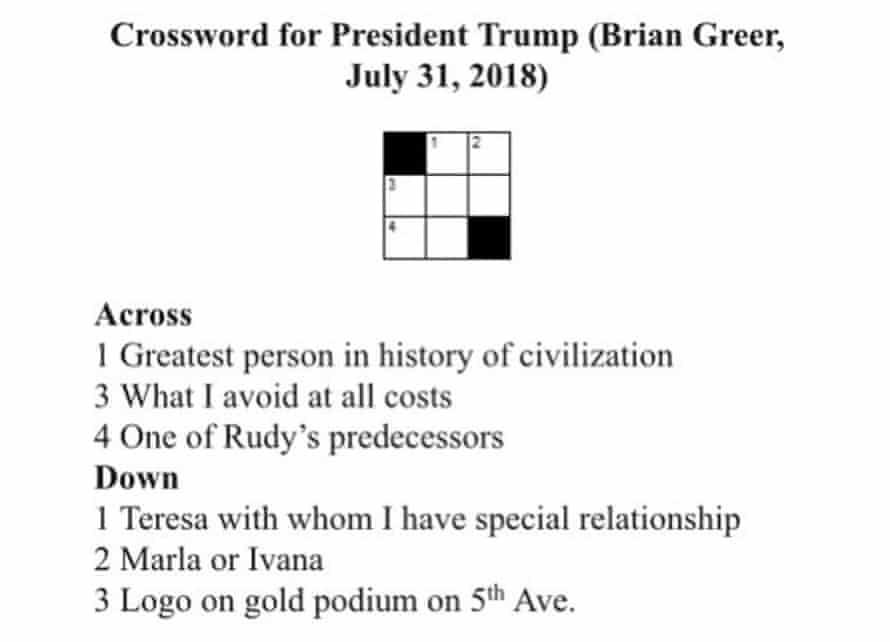 Crossword puzzle by Brian Greer (Brendan)
