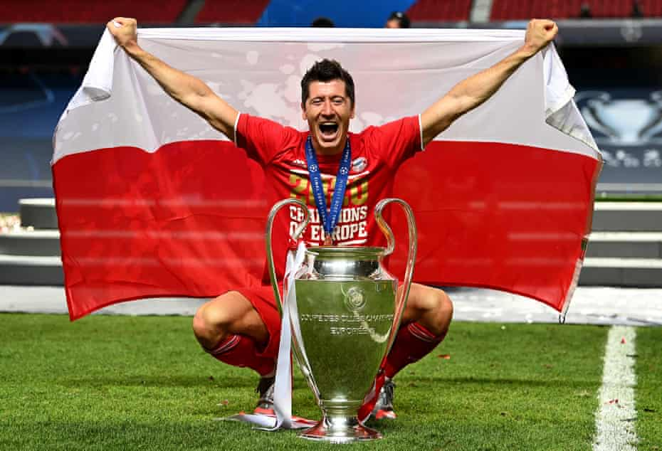 Robert Lewandowski added the Champions League title to his honours list, seven years after his previous appearance in the final.