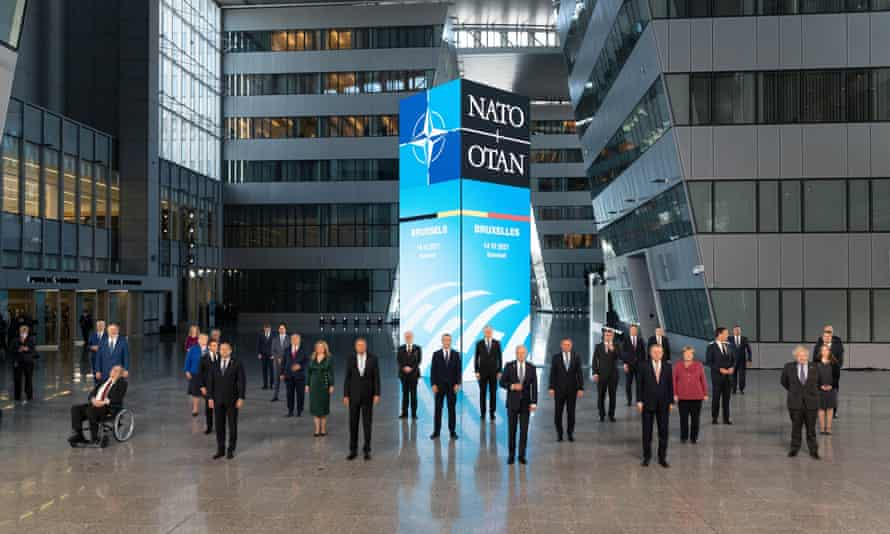 Nato leaders at its headquarters in Brussels