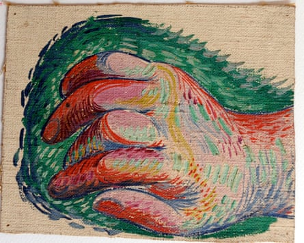 A painting of a hand by Picasso.