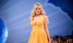 Kate Upton on the catwalk in 2012